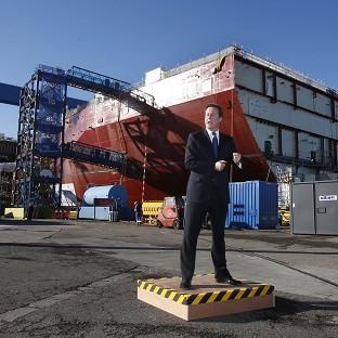 Hillingdon Times: David Cameron speaks during a visit to Rosyth Dock Yard in Fife, ahead of meeting with Scotland's First Minister Alex Salmond
