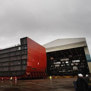 The BAE shipyard in Govan, Glasgow, has been involved in building the HMS Queen Elizabeth aircraft carrier