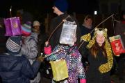 Children with lanterns during the parade. Photo by Adam Coffnan and Harringay Online.