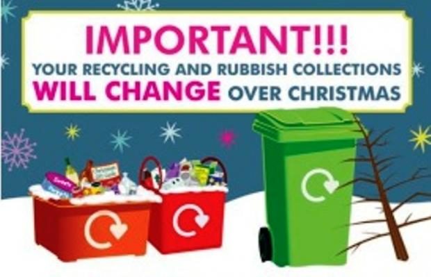 Collection dates for your rubbish over Christmas and New Year