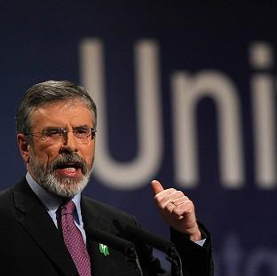 Gerry Adams called on the Irish and British governments to set a date for a border poll and let the people of Northern Ireland vote on a united Ireland