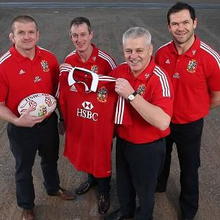 The British and Irish Lions coaching team (from left) Graham Rowntree, Rob Howley, Warren Gatland and Andy Farrell