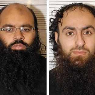 Irfan Naseer, left, and Irfan Khalid have been convicted of being 'centr