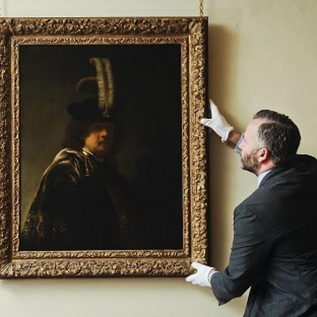 David Taylor inspects a confirmed self-portrait of Rembrandt