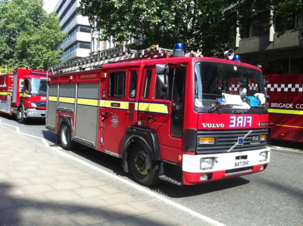 UNDER THREAT: The second fire engine at Hayes is one of several planned for withdrawal. Picture: Ben Sutherland