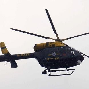 A Devon and Cornwall Police helicopter came to the rescue for seven stranded teenagers