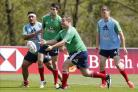 Vunipola (far left) and Farrell (far right). Picture: Action Images