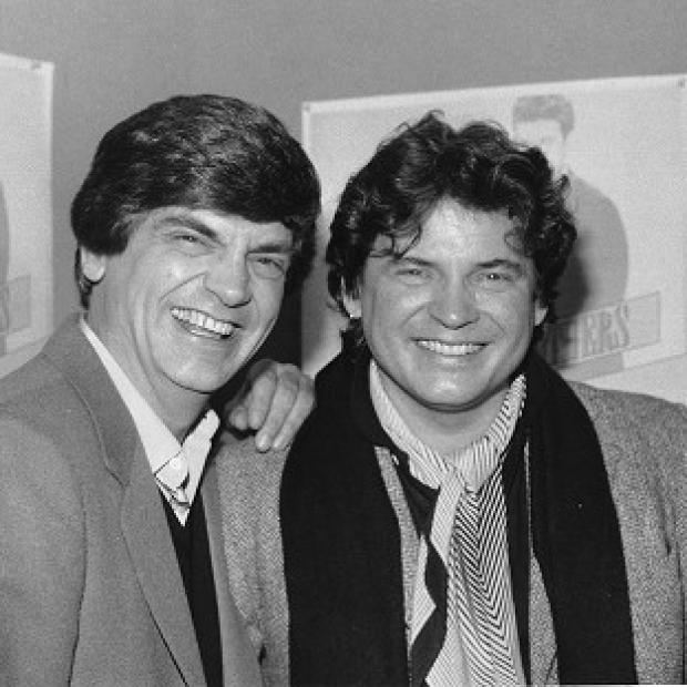Hillingdon Times: Phil Everly, left, and his brother Don, were huge stars in the 1950s and 1960s. (AP Photo/Ray Stubblebine, File)