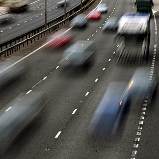 Two teenagers, aged 14 and 18, died and two other people were injured when a car crashed down an embankment on the M1 in Leicestershire