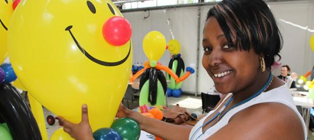 Puff out those cheeks: balloon artistry is one of many courses on offer