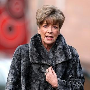 Hillingdon Times: Coronation Street actress Anne Kirkbride arrives at Preston Crown Court for the trial of fellow star William Roache.