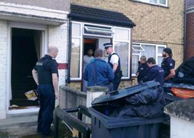 Caught: enforcement teams pounced on a property in Gledwood Drive