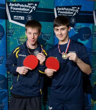 Finalist: Mitchell Jones, right, who has been playing the sport for seven years