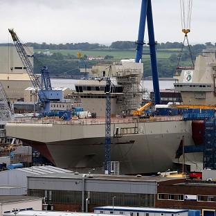 HMS Queen Elizabeth is being built at Rosyth dockyard in Fife