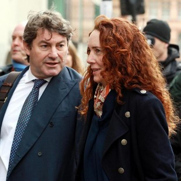 Hillingdon Times: Former News International chief executive Rebekah Brooks and her husband Charlie Brooks arrive at the Old Bailey