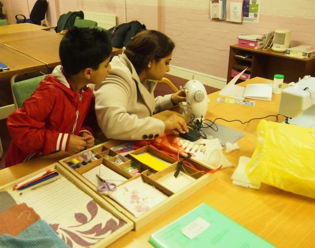 Tailor-made: the sewing club has proved particularly popular