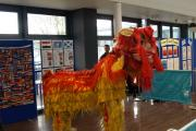 A Chinese dragon was among the attractions at Uxbridge College's Unity event
