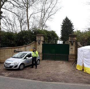 Hillingdon Times: Police outside the home of Boris Berezovsky after his death.