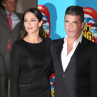 Lauren Silverman and Simon Cowell attending the opening night of I Can't Sing! The X Factor Musical