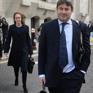 Hillingdon Times: Charlie Brooks and his wife, former News International chief executive Rebekah Brooks, leave the Old Bailey in London