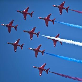 A three-minute video has been posted online that puts the viewer in the passenger seat of a Red Arrows plane during a practice sess