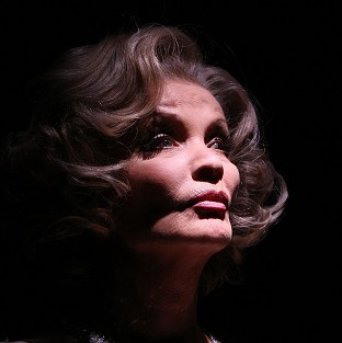 Former soap star Kate O'Mara, pictured here as Marlene Dietrich, has died aged 74