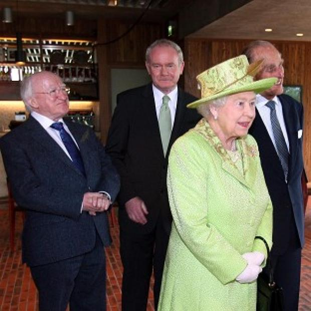 Hillingdon Times: Martin McGuinness, centre, will attend a state banquet at Windsor Castle hosted by the Queen, during an official visit by Irish President Michael D Higgins to the UK next week