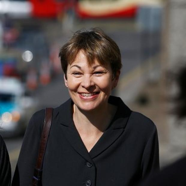 Hillingdon Times: Green MP Caroline Lucas arrives at Brighton Magistrates' Court