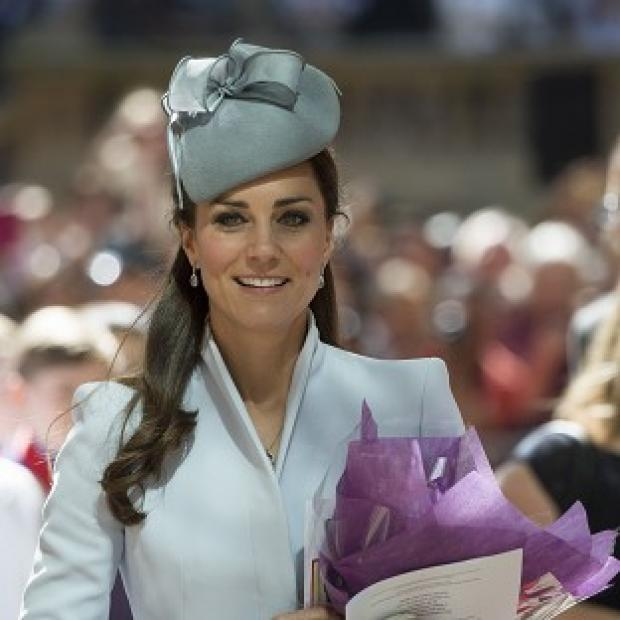 Hillingdon Times: The Duchess of Cambridge pictured attending an Easter Sunday church service in Sydney