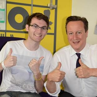 Teenage cancer patient Stephen Sutton was visited by Prime Minister Dav