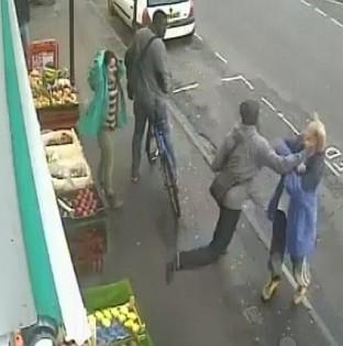 CCTV image of the moment Andrew Young was killed with a single punch by Lewis Gill