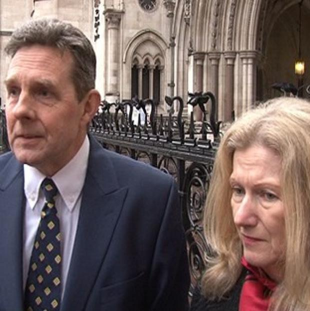 Hillingdon Times: Paul and Sandra Dunham outside the High Court in London