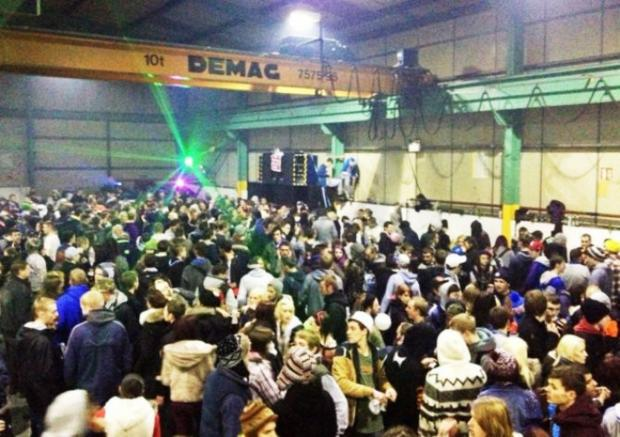 Pop-up parties are usually held in disused warehouses