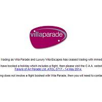 Hillingdon Times: The front page of www.villaparade.co.uk carries a notice to say it has ceased trading