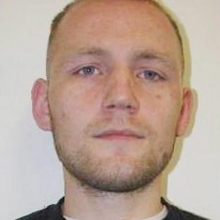 Hillingdon Times: Dean Jackson, 27, from Newcastle-upon-Tyne who alongside Damien Burns, 39, originally from Scarborough, North Yorkshire, has absconded from the category D Hatfield Prison