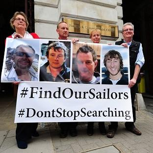 Hillingdon Times: Relatives of the missing yachtsmen pressed for the search to continue