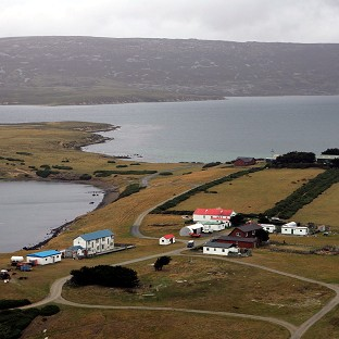 San Carlos in the Falkland Islands