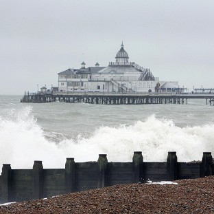 Two men were diving off Eastbourne when they got into trouble