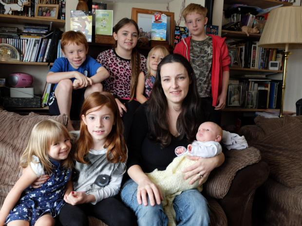 Happy at home: Denis Smith and her family