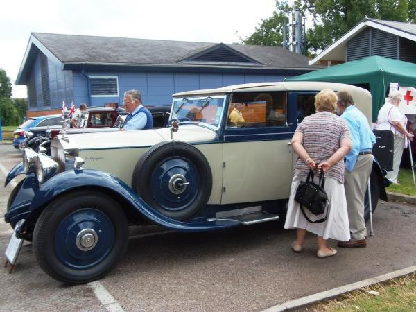 Hillingdon Times: Vintage: part of the display by Uxbridge and District Classic Vehicle Society