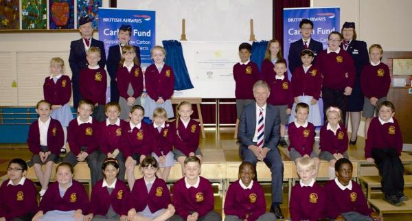 Energy savers: Keith Williams with Harmondsworth pupils