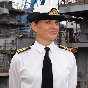 Commander Sarah West has left the ship while an investigation is under way