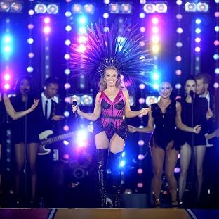 Kylie Minogue was the headline act at the closing ceremony