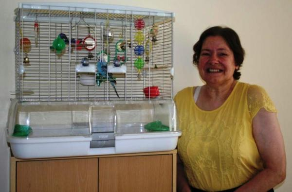 Diane: happy with her new home