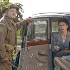 Hillingdon Times: Captain Mainwaring (Toby Jones) and Rose Winters (Catherine Zeta-Jones) in Dad's Army (Universal Pictures/PA)
