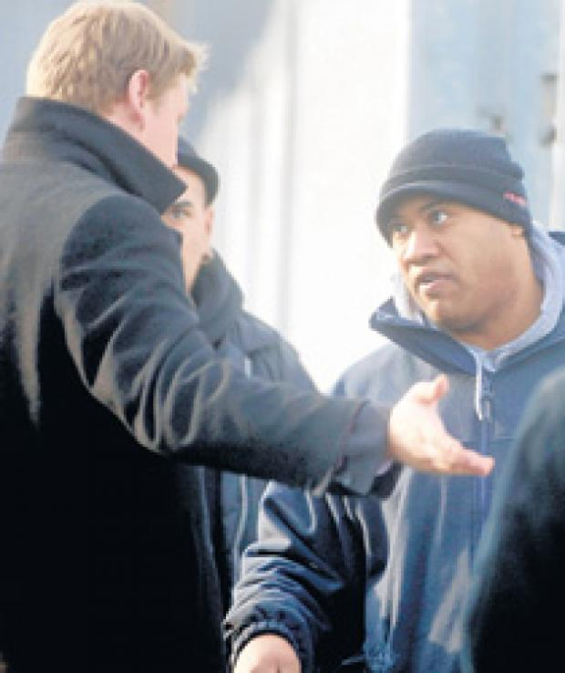 Hillingdon Times: Alex Hayes confronts the clampers.