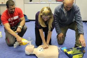 Life-saving equipment ready for use in Hillingdon primary school