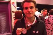 Pit Henrich celebrates winning Silver medal in a national Game Design competition at WorldSkillsUK