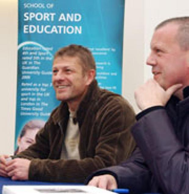 Sean Bean with Dr Gary Armstrong.