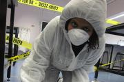 Uxbridge College students followed the trail of evidence during an event to mark British Science Week